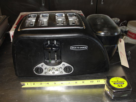 Back to basics Toaster - w  butter warmer