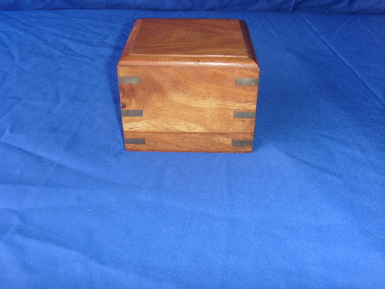 Clock and wood box