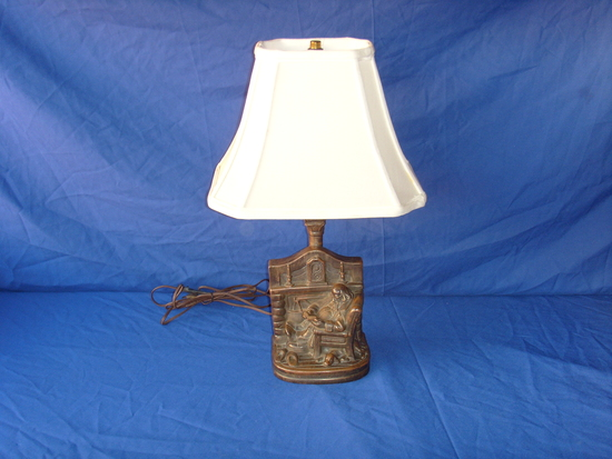 Armor bronze lamp