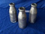 Aluminum milk bottles