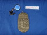 Brass desk magnifier - metal shield