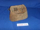 Vintage Woven wicker fish bait basket