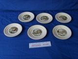 6 plates gold trim Harkerware