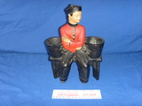 Retro Alexander Backer Chalkware Asian Man Planter
