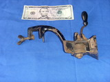 antique RAISIN SEEDER grinder CRANK TABLE-MOUNT 8 grinding teeth wheels