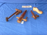 Several wood items - taps