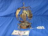 Musical box metal globe