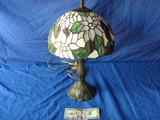Pink floral Tiffany style lamp