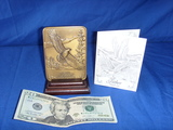 Bronze Father Plaque with Gerald Henry Poem and Stand 28 Oz of Metal
