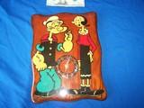 Popeye and Olive Oyl clock