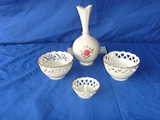 4 pieces - Lenox vase- two bowls- ring holder