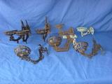 Decorative metal wall mounts