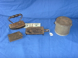 4 pieces hinged iron - iron stand - iron pieces - tin can