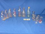 12 glass milk bottles