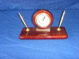 Elegant executive clock pen and pencil