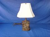 Armor bronze lamp