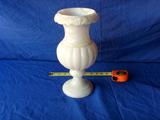 Etched white Alabaster lamp base