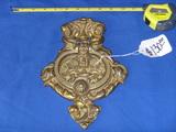 Brass cherub door knocker