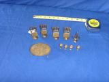 Brass dollhouse pieces (10)