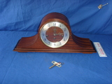 Wood Welby mantle clock with key