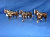 3 horses die cast