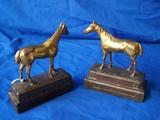 Armor bronze horse bookends