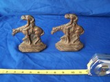WH Howell horse bookends - End of Trail Indian on Horse