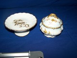 Limoges floral candy dish and sugar bowl