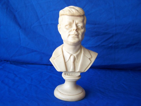 JF Kennedy alabaster bust