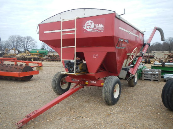 EZ TRAIL SEED WAGON  WITH AUGER, GAS POWERED