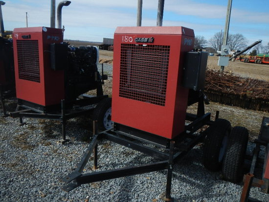 CASE/IH P110 POWER UNIT, 5369 HRS  TRAILER MOUNTED S# 22547