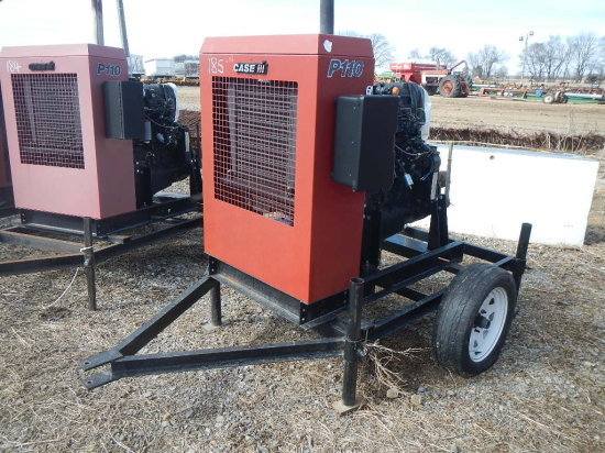 CASE/IH P110 POWER UNIT, 3432 HRS  TRAILER MOUNTED S# 23497