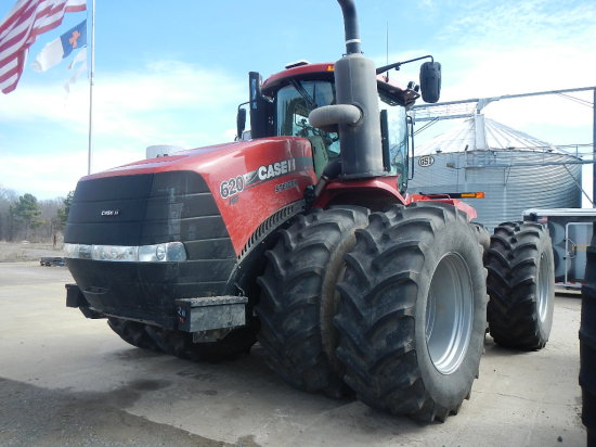 2017 CASE/IH 620HD STIEGER WHEEL TRACTOR, 194 ENGINE HRS/102 DRIVE HRS  1 C