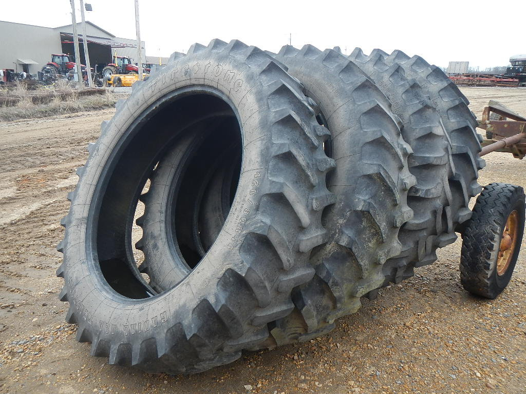 (4) 420/80R46 TRACTOR TIRES