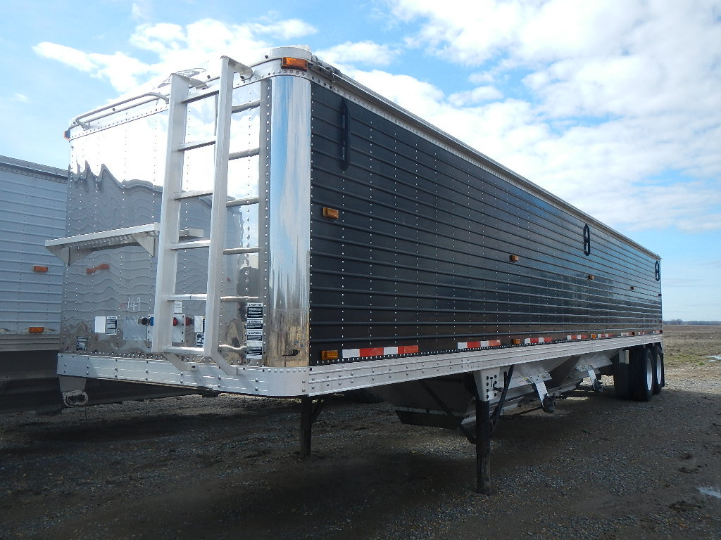"2001 TIMPTE 42' HOPPER BOTTOM GRAIN TRAILER,  72"" SIDES, AIR RIDE SUSPENSIO"