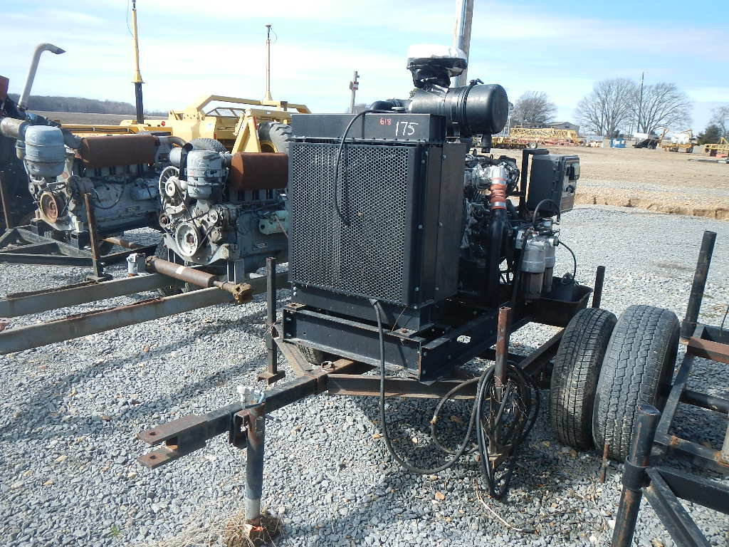 ISUZU 4 CYLINDER POWER UNIT  TRAILER MOUNTED S# A1-4JJ1XYBW-01