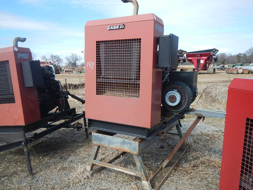 CASE/IH P140 POWER UNIT, 6612 HRS  SKID MOUNTED WITH GENERATOR S# 22733