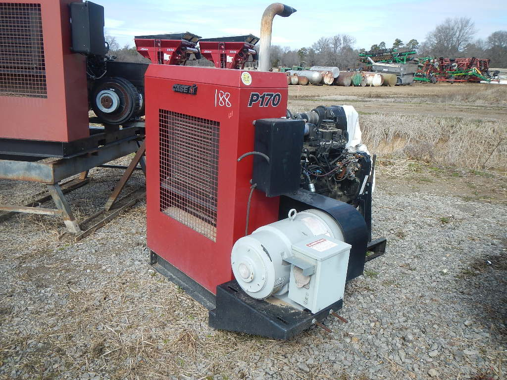 CASE/IH P170 POWER UNIT 2185 HRS  SKID MOUNTED, WITH GENERATOR S# 24663