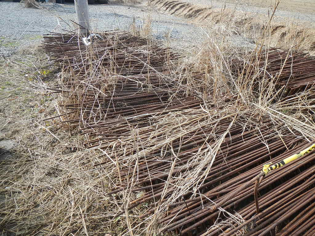 LOT OF REBAR LEVEE GATES