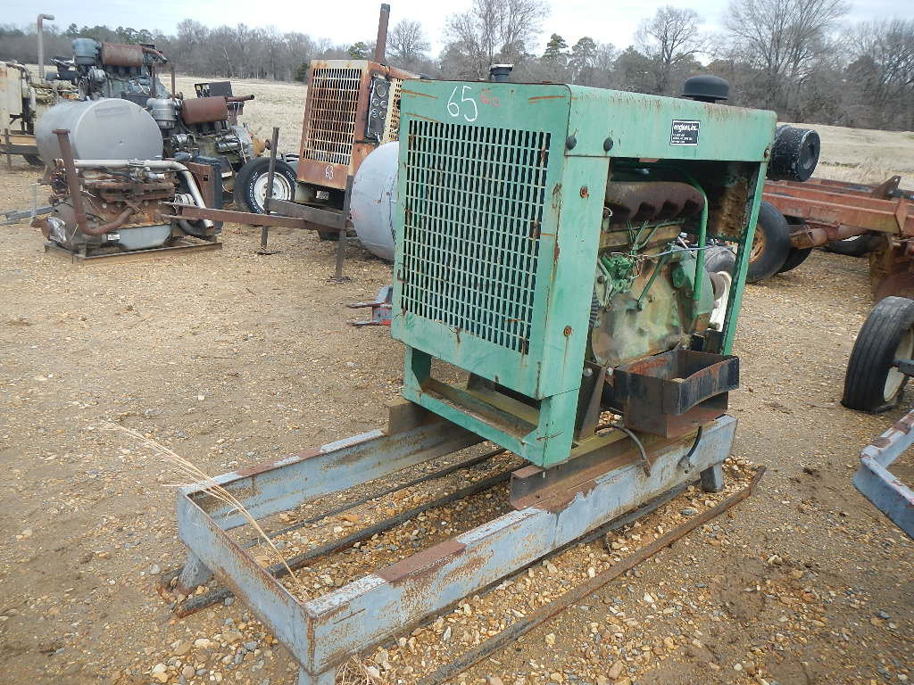 JOHN DEERE 4039D POWER UNIT  ON SKID S# 412801
