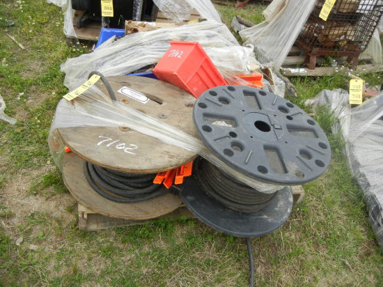 PALLET OF ROLLS OF WIRING  AND MISCELLANEOUS