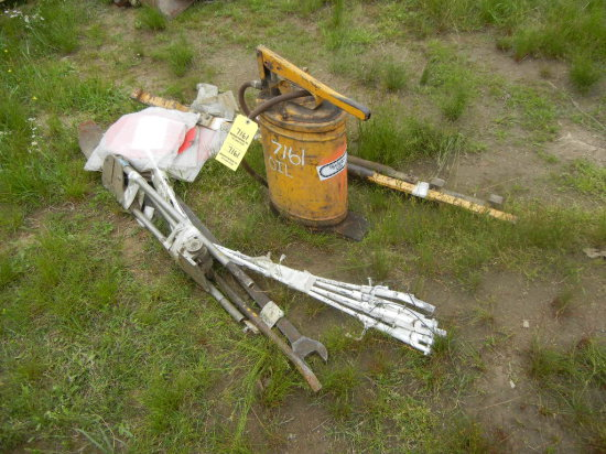 LOT OF DERAIL FLAGS  AND MISCELLANEOUS TRACK TOOLS