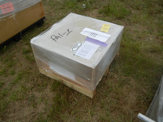 PALLET WITH ENGINE MODULE CONTROLS,  EXCHANGE BRAKE SHOES, MARK 4 GANG SWIT