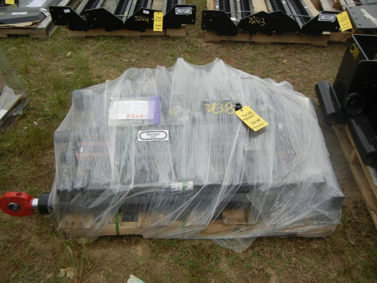 PALLET WITH HYDRAULIC CYLINDER, RAIL LIFT FRAME,  GAUGER TRUNION MOUNT AND