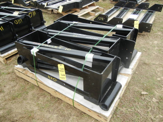 PALLET WITH OIL COOLER SUPPORT BRACKETS
