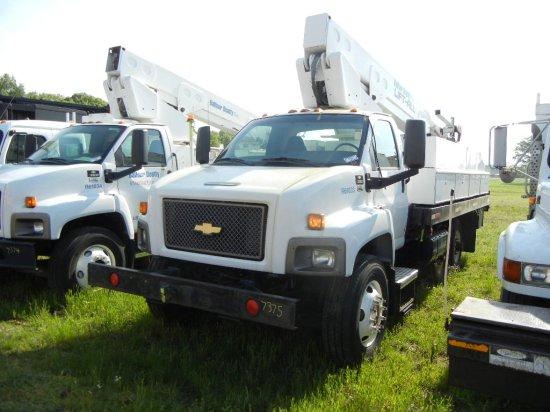 2009 CHEVROLET C8500 BUCKET TRUCK, 2,514+ hrs,  HY-RAIL, ISUZU DIESEL, AUTO