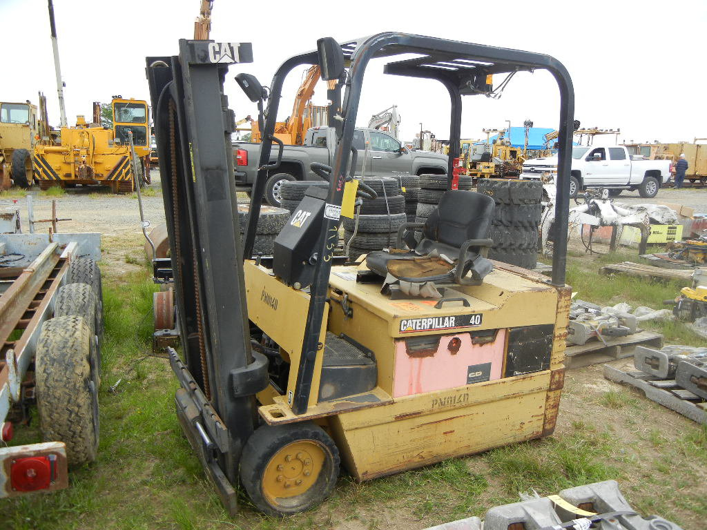 CATERPILLAR EP20T-36A FORKLIFT,  ELECTRIC POWERED, SOLID TIRE, 4,000-LB CAP