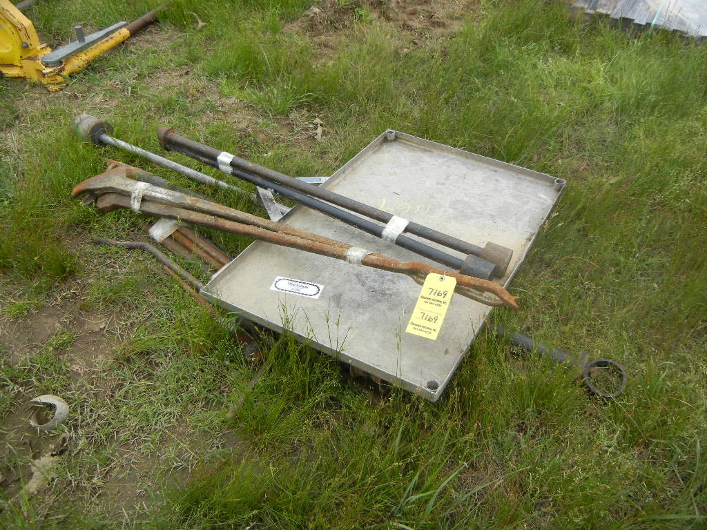 LOT OF TOOL CART, CLAW BARS  AND MISCELLANEOUS