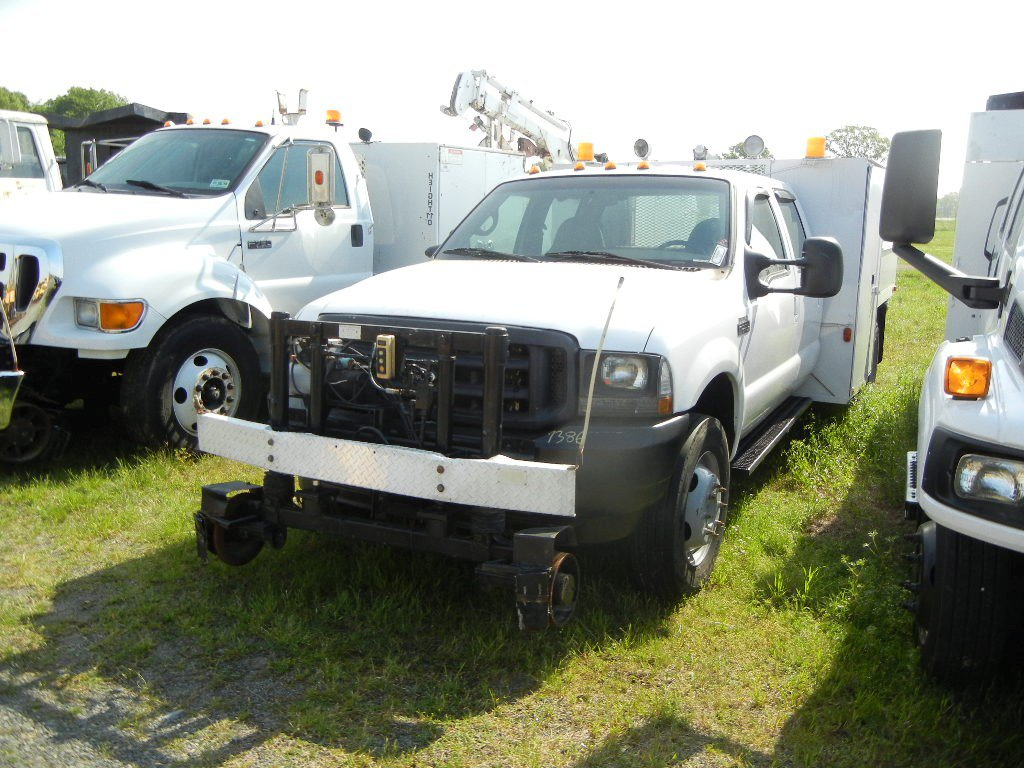 2002 FORD F-550 SERVICE TRUCK,  CREW CAB, POWERSTROKE DIESEL, AT, PS, AC, H