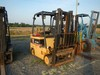 "DAEWOO GC305-2 FORKLIFT,  PROPANE ENGINE, SOLID TIRE, 2-STAGE MAST, 82"" LIF"